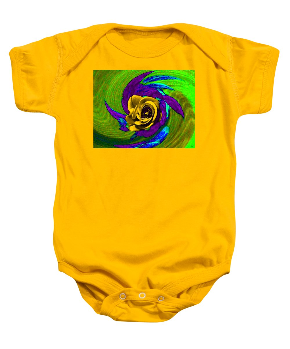 Abstract Baby Onesie featuring the digital art Pizzazz 4 by Will Borden
