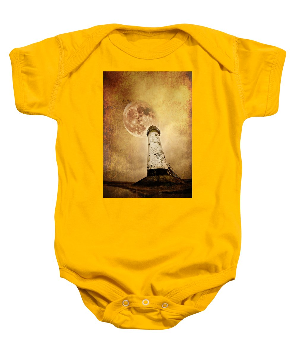 Lighthouse Baby Onesie featuring the photograph Pointing The Way by Meirion Matthias