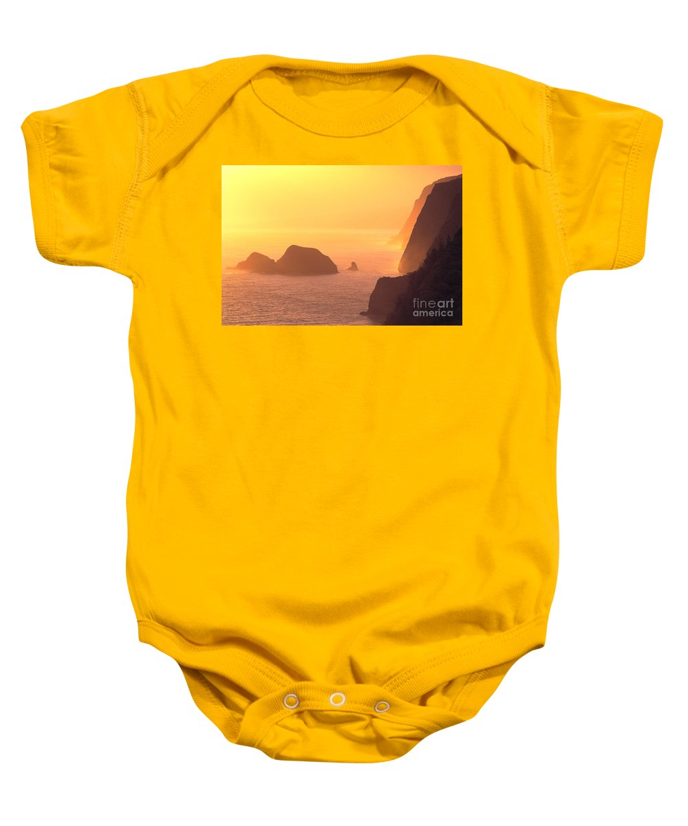 Big Baby Onesie featuring the photograph Pololu Valley Lookout by Greg Vaughn - Printscapes
