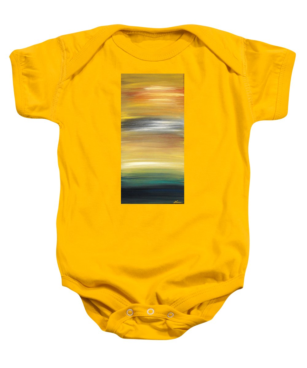 Waves Baby Onesie featuring the painting Pond by Todd Hoover