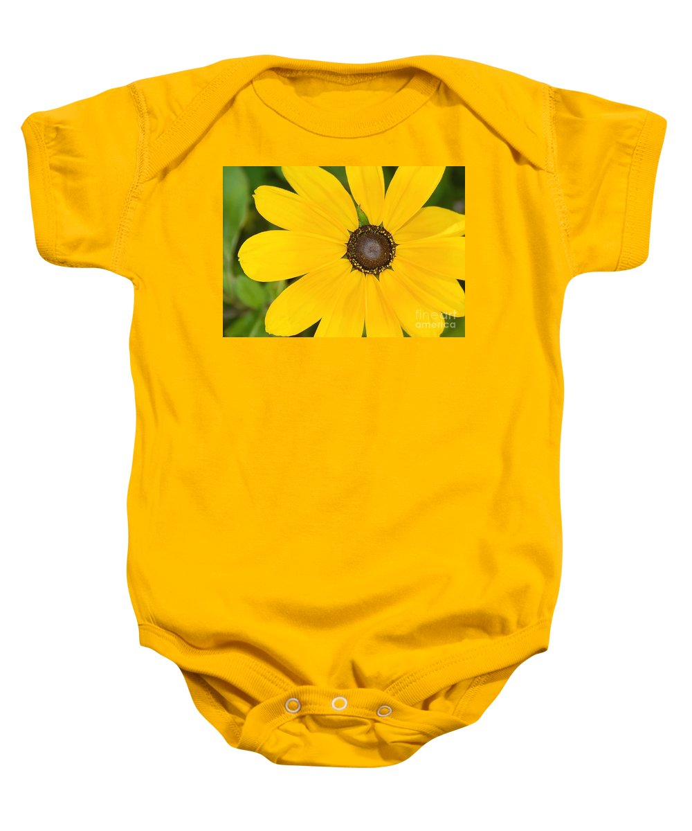 Yellow Flower Baby Onesie featuring the photograph Pretty In Yellow by David Lee Thompson