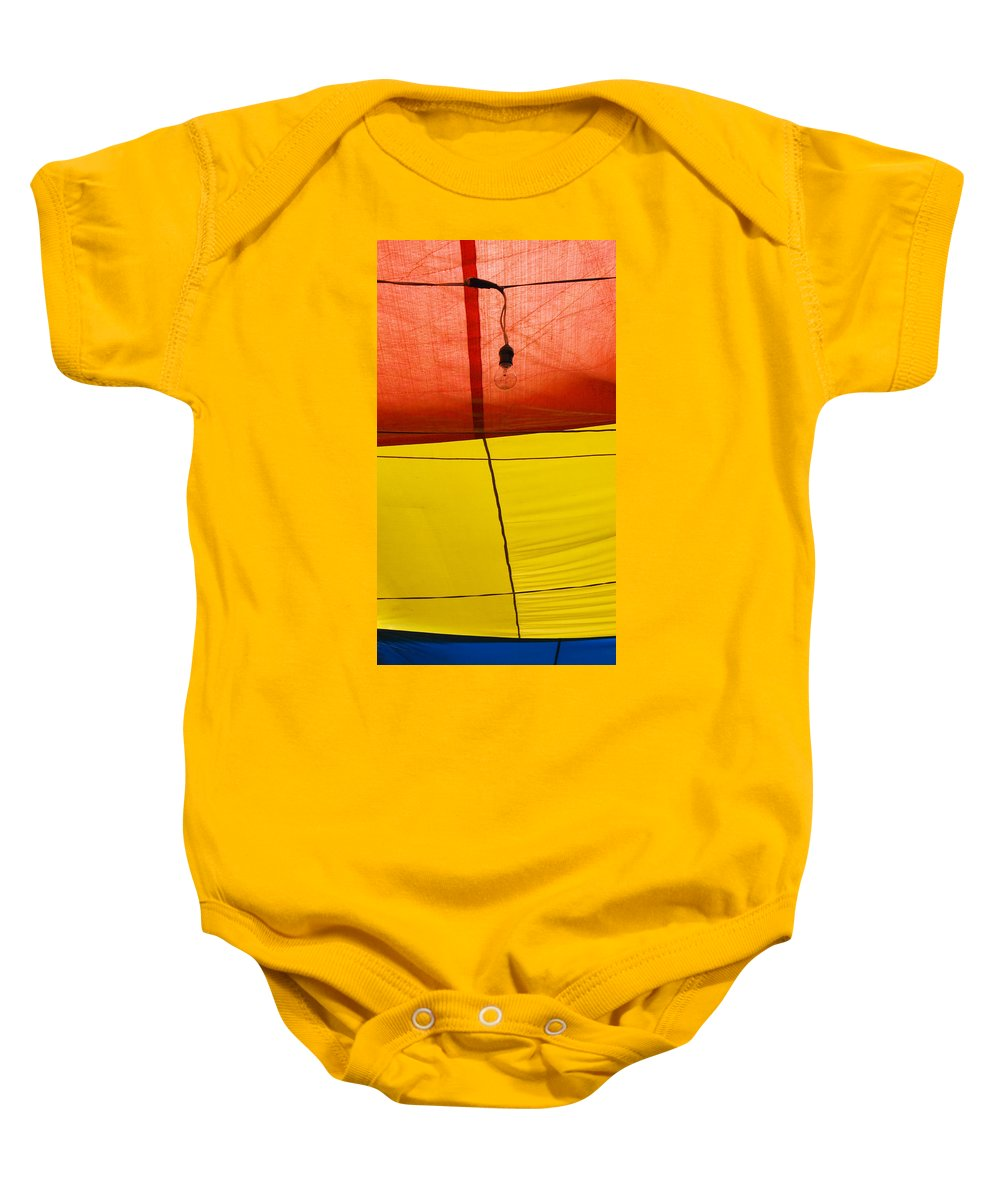 Bulb Baby Onesie featuring the photograph Primary Light by Skip Hunt