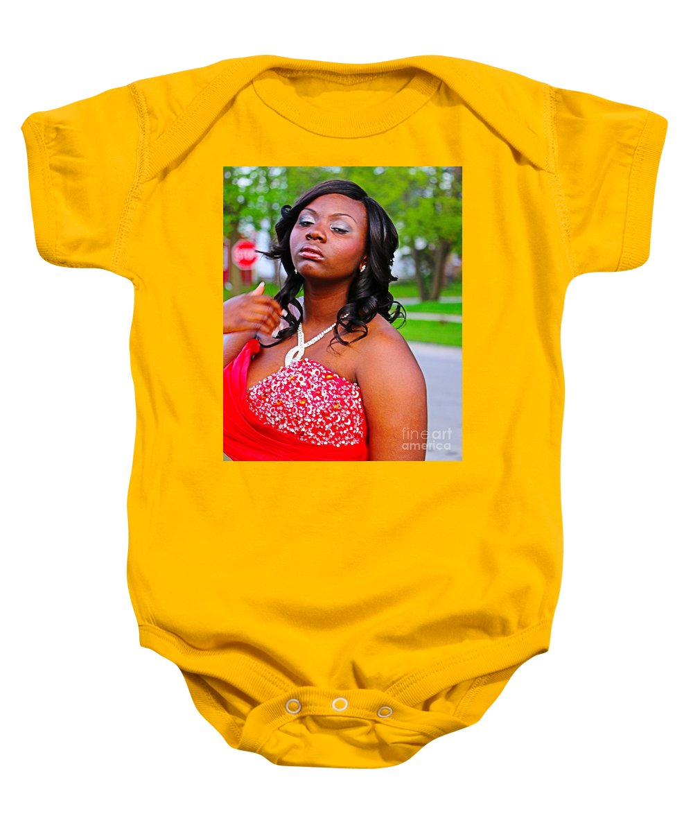 Portrait Baby Onesie featuring the photograph Prom Night by Don Baker