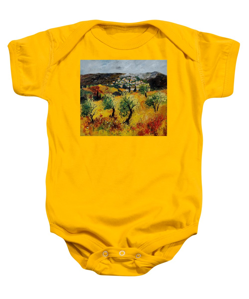 Provence Baby Onesie featuring the painting Provence 789080 by Pol Ledent
