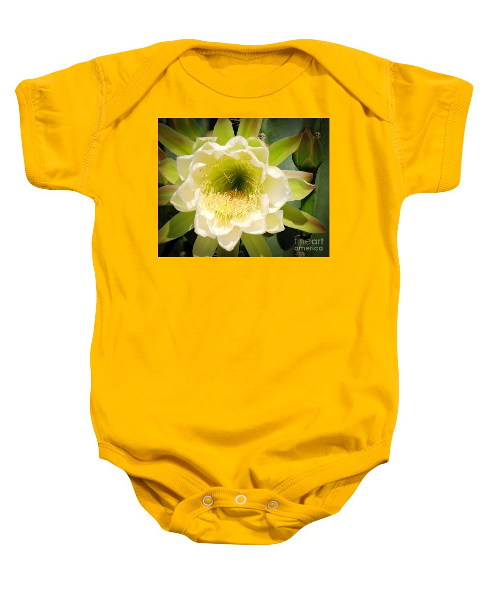 Queen Of The Night Baby Onesie featuring the photograph Queen Of The Night by Marilee Noland