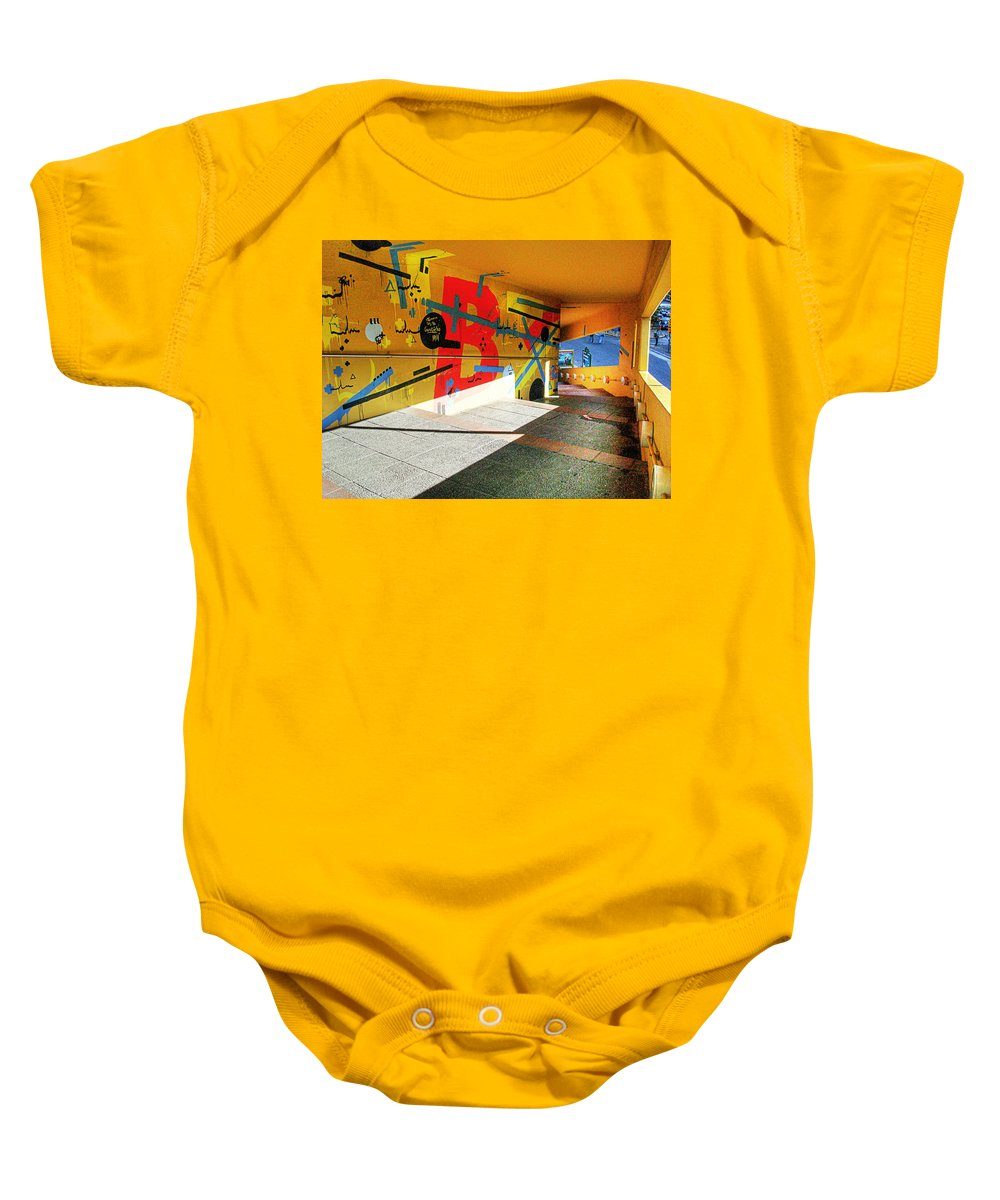 Tunnel Baby Onesie featuring the photograph Recoleta Tunnel by Francisco Colon