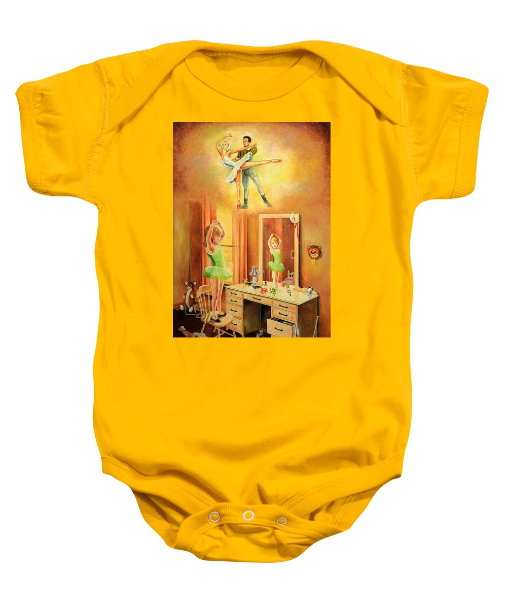 Dancer Baby Onesie featuring the painting Reflections by Duane R Probus
