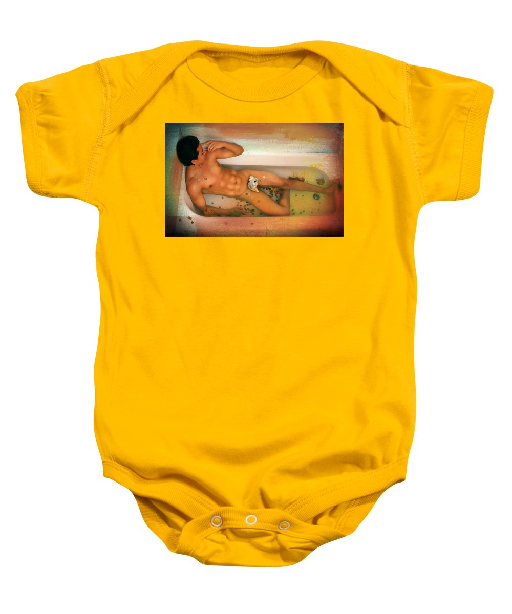 Artistic Nude Baby Onesie featuring the photograph Reflections by Mark Ashkenazi