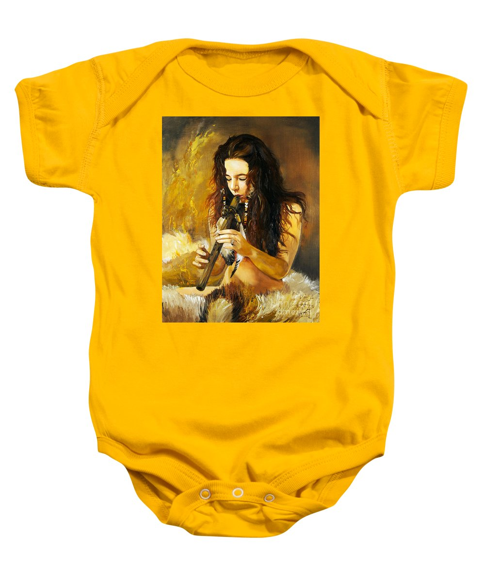 Woman Baby Onesie featuring the painting Release by J W Baker