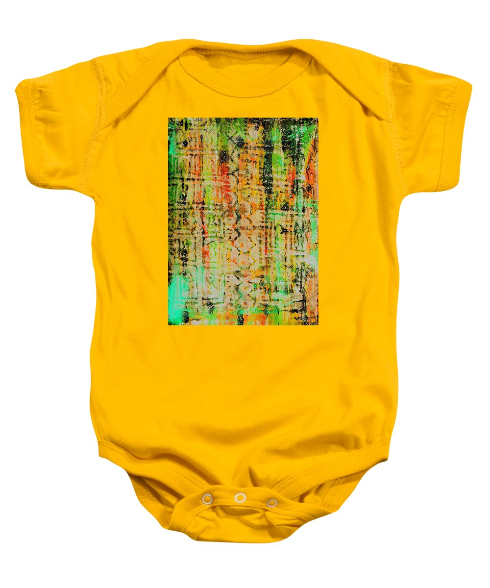 Monoprint Baby Onesie featuring the painting Remnants Of The Homeland by Wayne Potrafka