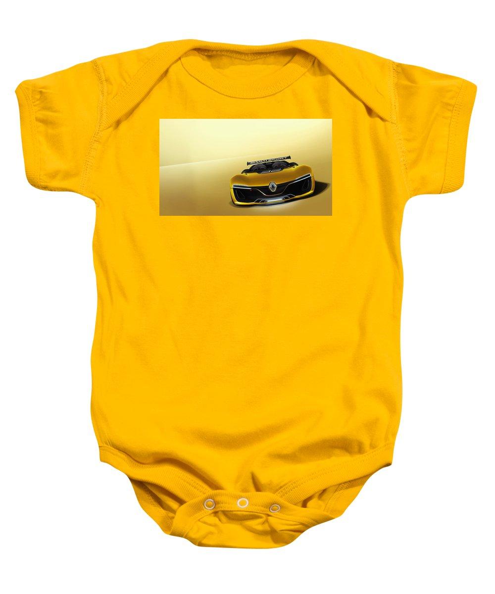 Baby Onesie featuring the digital art Renault Sport Spider 4k by Alice Kent