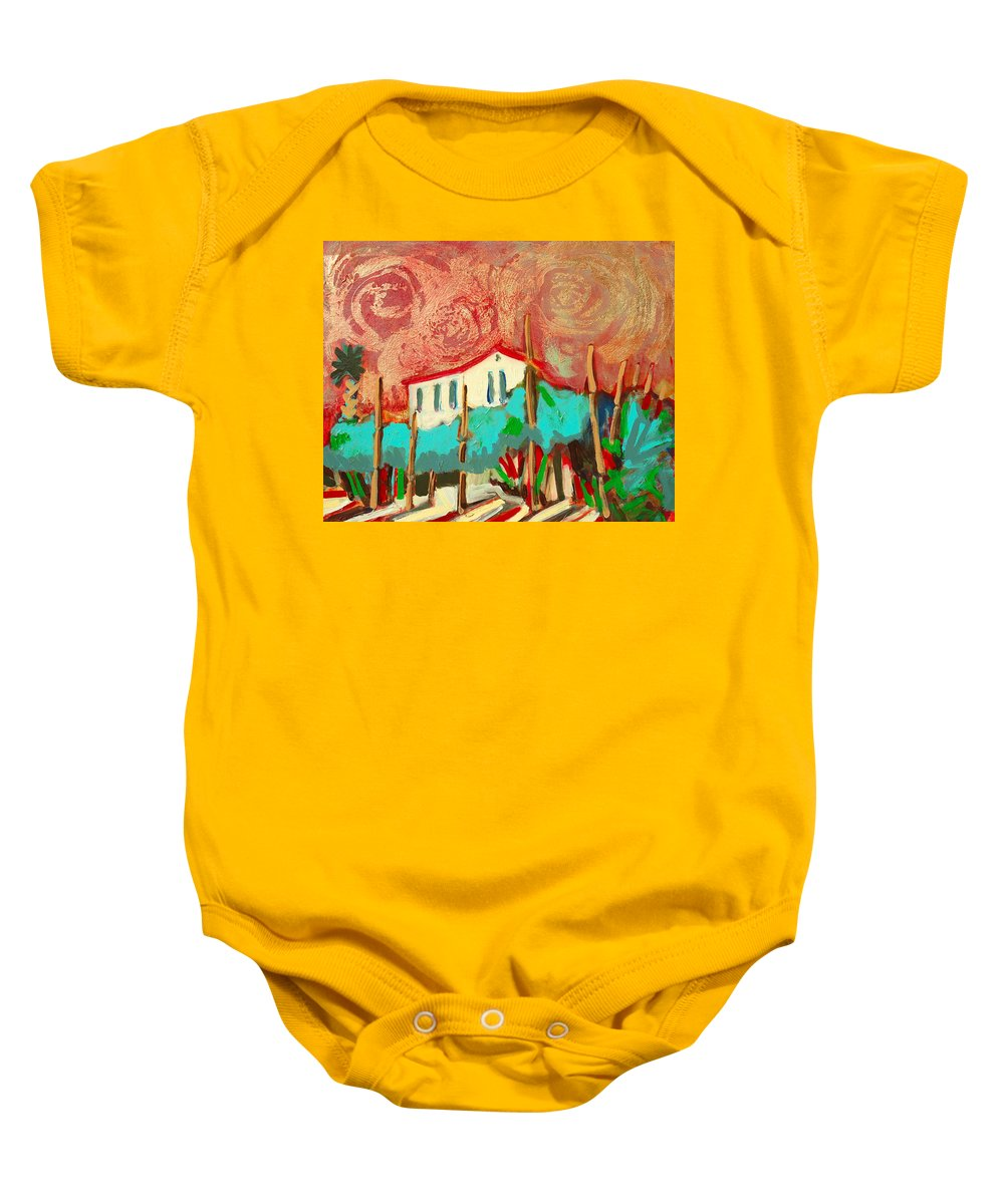 Tuscany Baby Onesie featuring the painting Ricordare by Kurt Hausmann