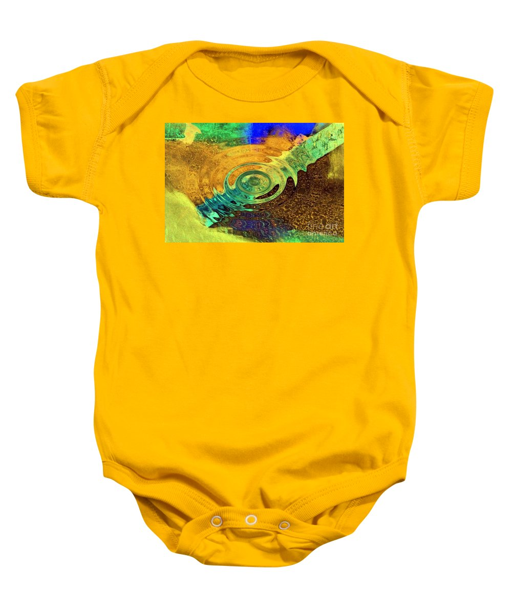 Ripples In Time Baby Onesie featuring the painting Ripples In Time by Dawn Hough Sebaugh