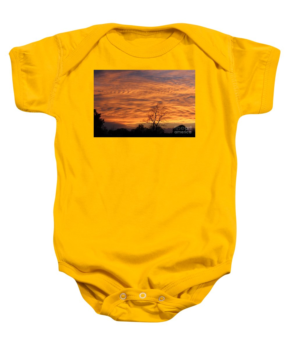 Orange Baby Onesie featuring the photograph Ripples Of Orange by Barbara Kay Spencer