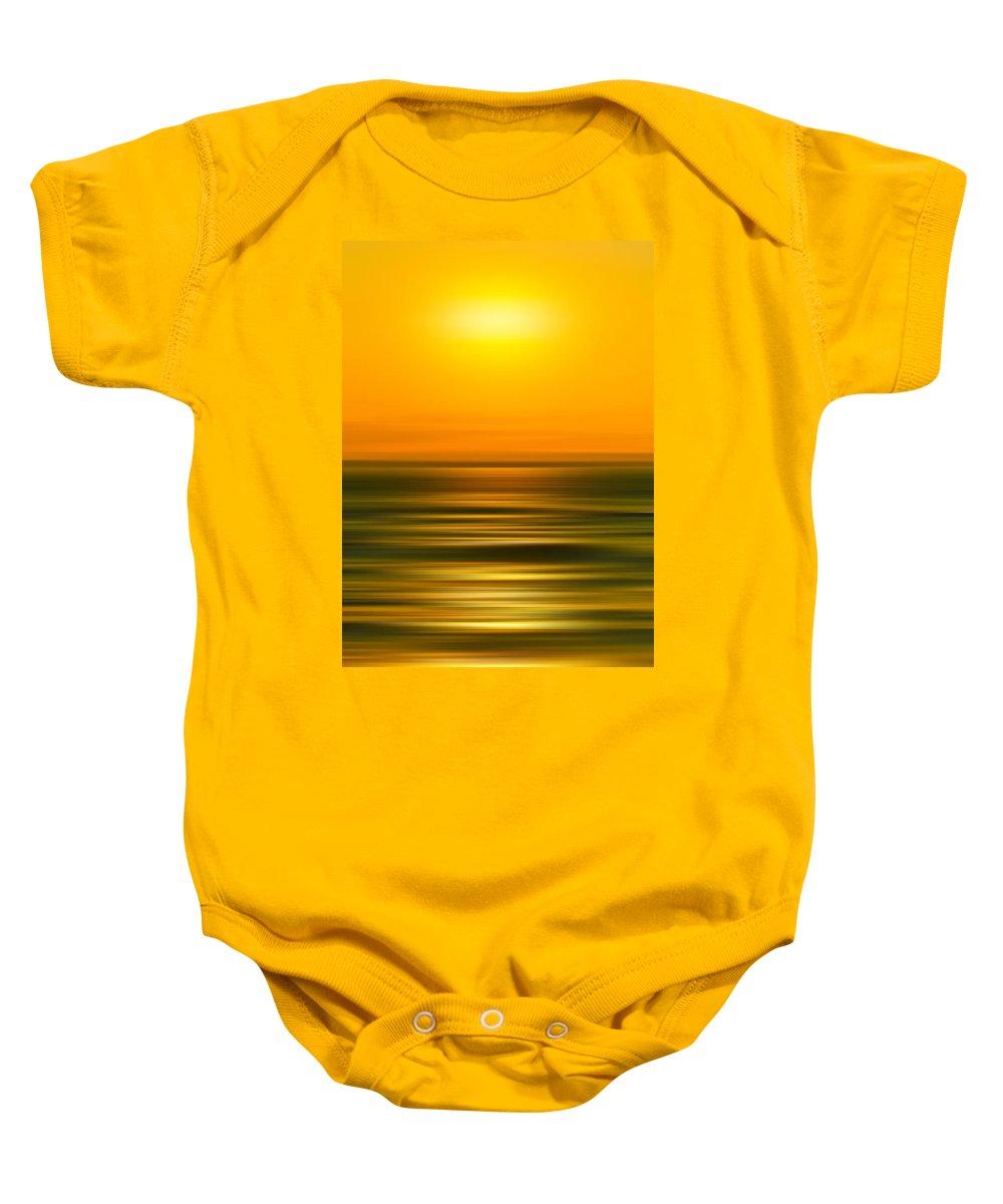 Beach Baby Onesie featuring the photograph Rising Sun by Az Jackson
