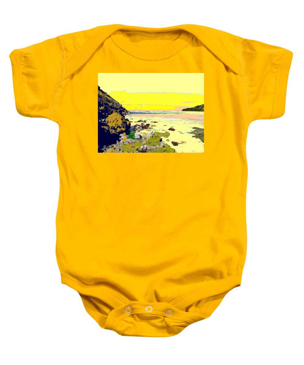 Beach Baby Onesie featuring the photograph Rocky Beach by Ian MacDonald