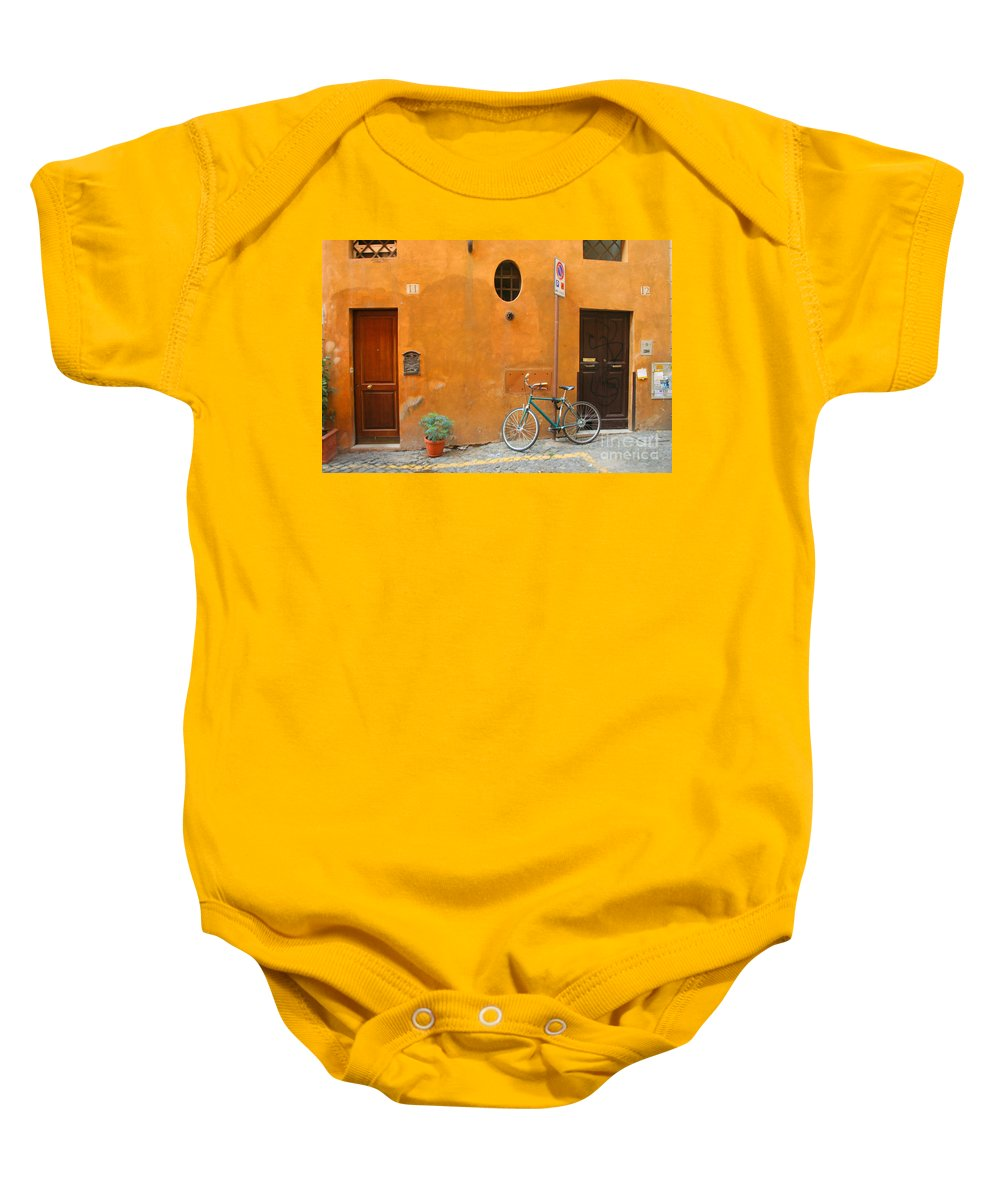 Rome Baby Onesie featuring the photograph Roman Doors by Thomas Marchessault