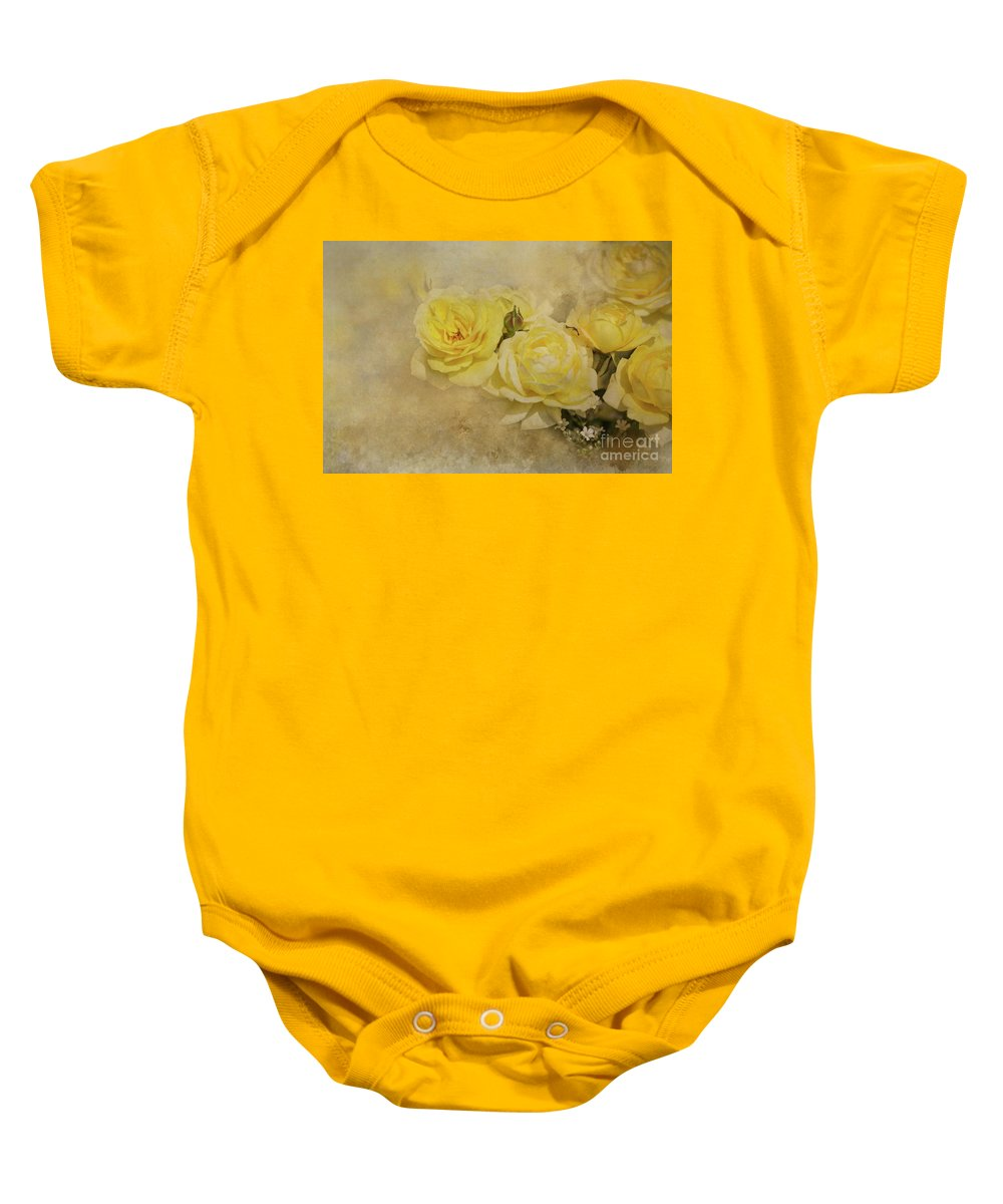 Roses Baby Onesie featuring the photograph Roses Delight by Eva Lechner