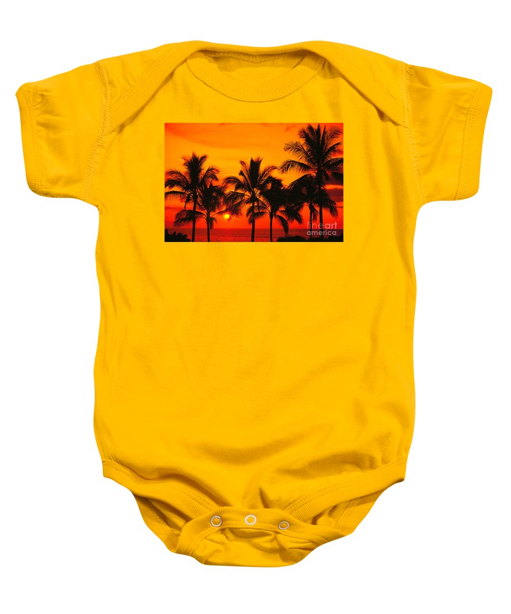 Bill Schildge Baby Onesie featuring the photograph Row Of Palms by Bill Schildge - Printscapes