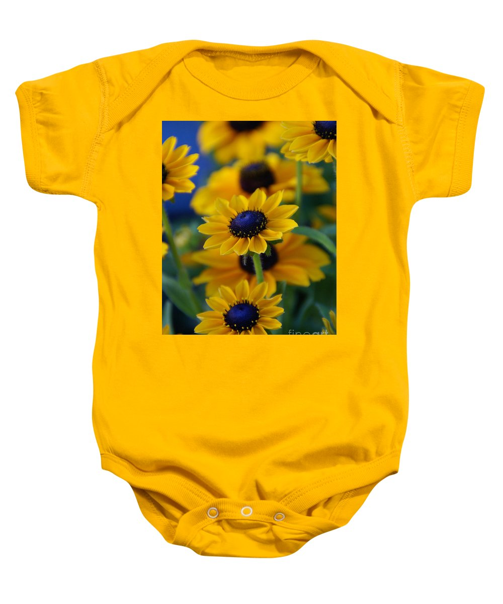 Yellow Baby Onesie featuring the photograph Royal Blue by Linda Shafer