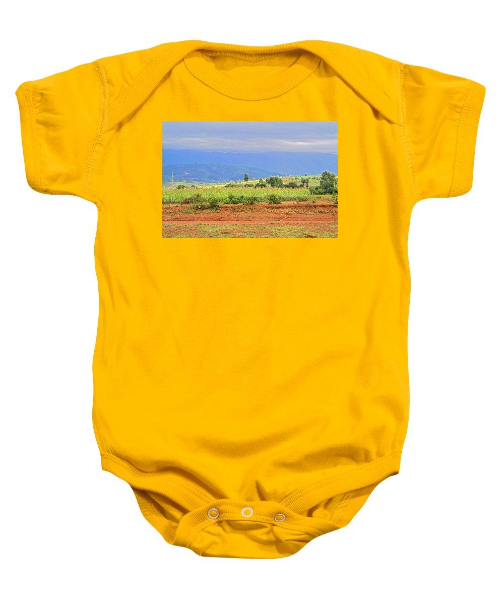 Landscape Baby Onesie featuring the photograph Rural Landscape In Tanzania by Marek Poplawski
