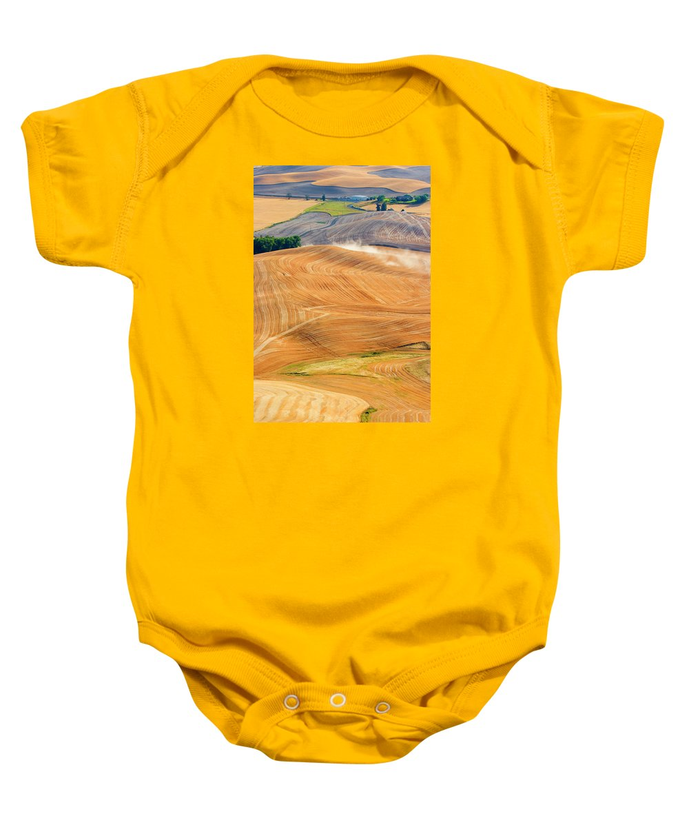 Hills Baby Onesie featuring the photograph Rural Traffic by Mike Dawson