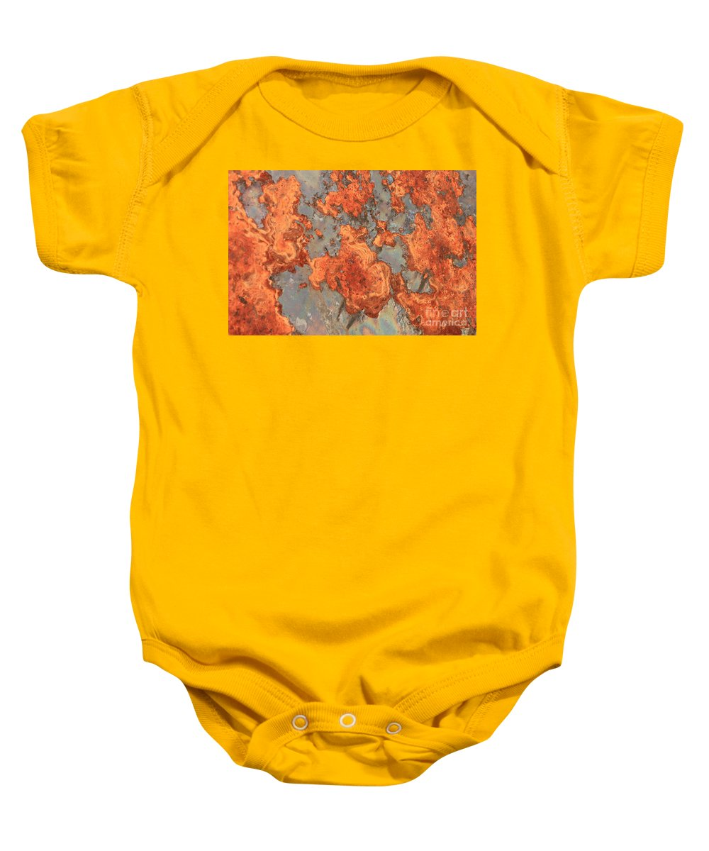 Rust Baby Onesie featuring the photograph Rust Art by Carol Groenen