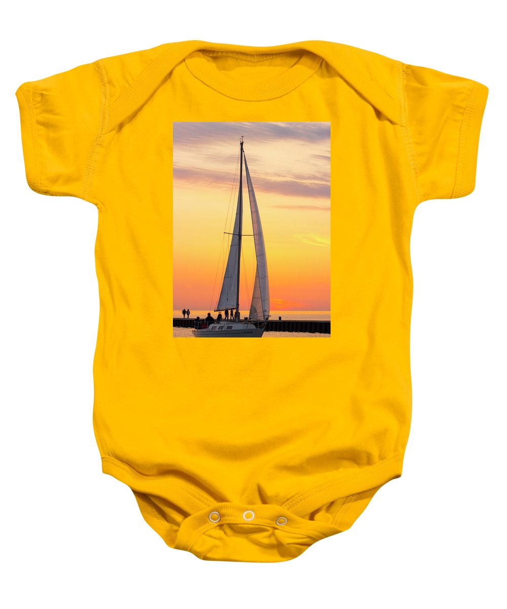 Sailboat Baby Onesie featuring the photograph Sailing In by Tammy Chesney