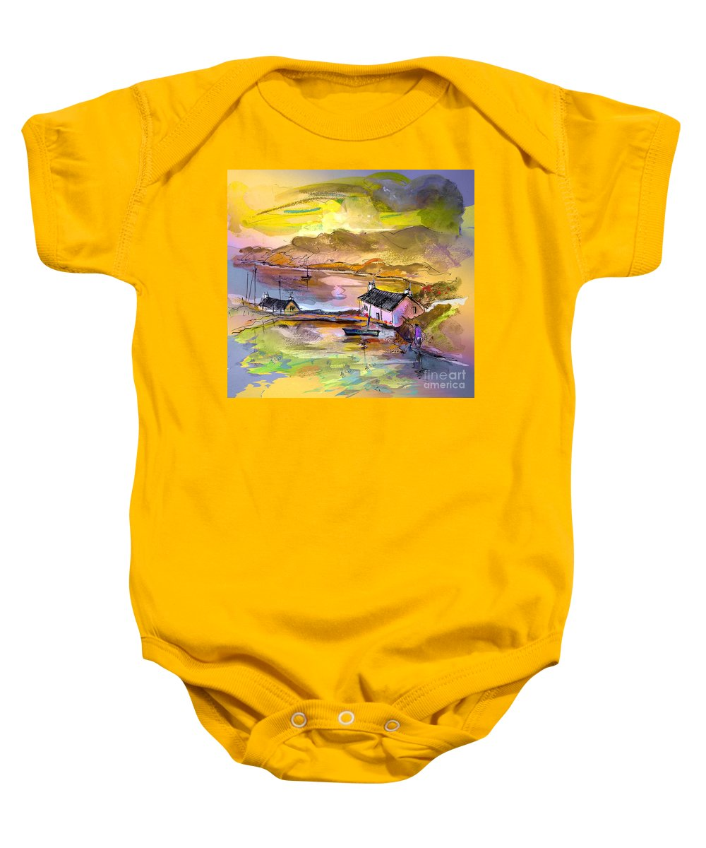 Scotland Paintings Baby Onesie featuring the painting Scotland 11 by Miki De Goodaboom