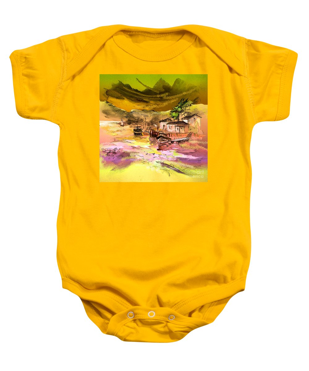 Scotland Paintings Baby Onesie featuring the painting Scotland 14 by Miki De Goodaboom