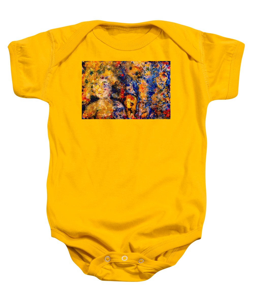 Expressionism Baby Onesie featuring the painting Seeking Wanderers by Natalie Holland