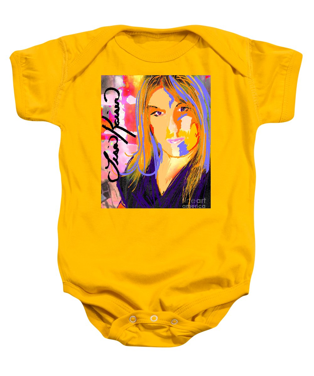Lisa Kaiser Baby Onesie featuring the digital art Self Portraiture Digital Art Photography by Lisa Kaiser
