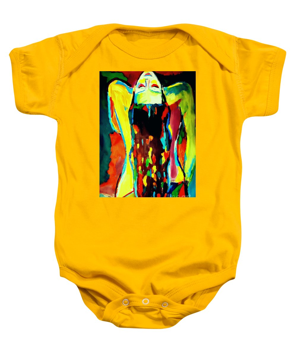 Nude Figures Baby Onesie featuring the painting Serenity by Helena Wierzbicki