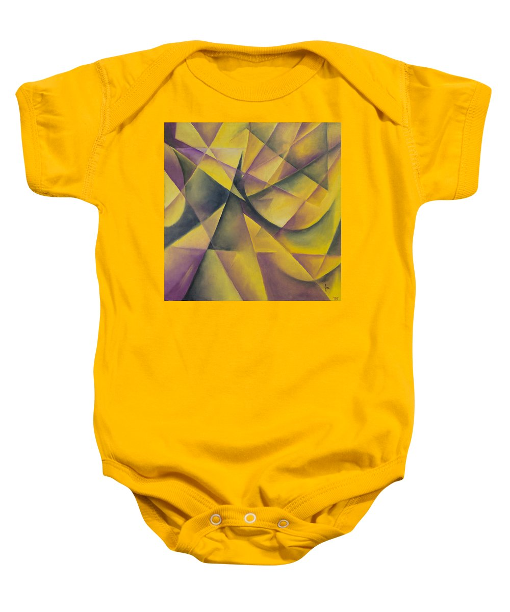 Abstract Baby Onesie featuring the painting Shining by Ilgar Talibov