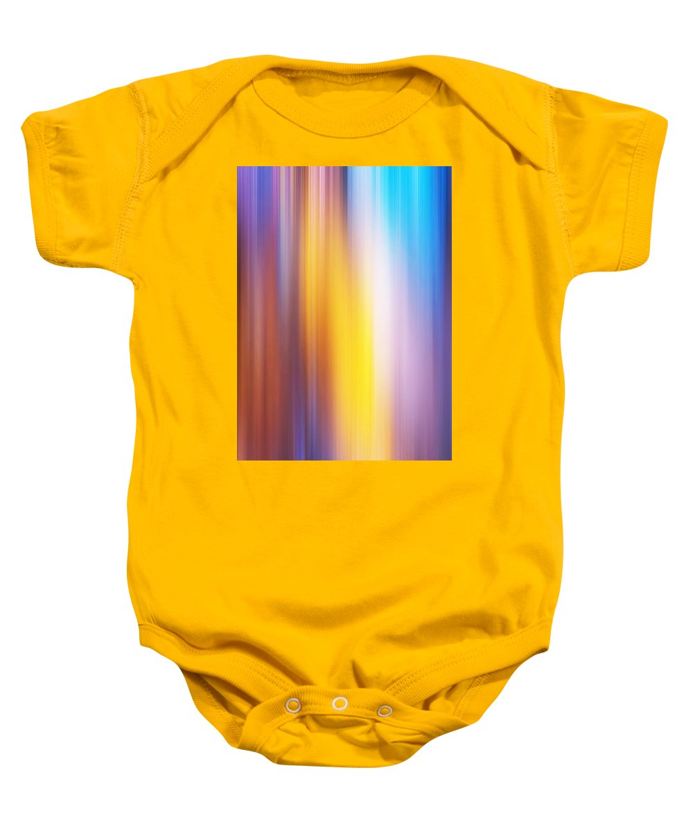 Abstract Baby Onesie featuring the photograph Slot Canyon Colors Abstract by Pam Elliott