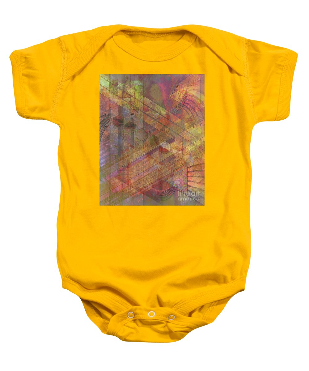 Soft Fantasia Baby Onesie featuring the digital art Soft Fantasia by John Beck