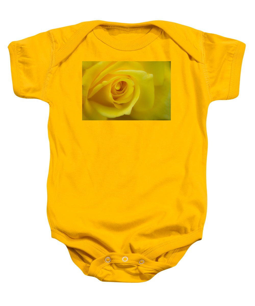 Yellow Rose Baby Onesie featuring the photograph Soft Yellow Rose by Brent Martin - My Photography Adventure