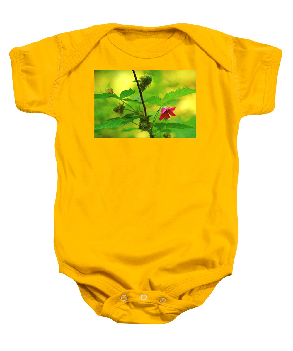Flower Baby Onesie featuring the photograph Something Red by Mark Lemon