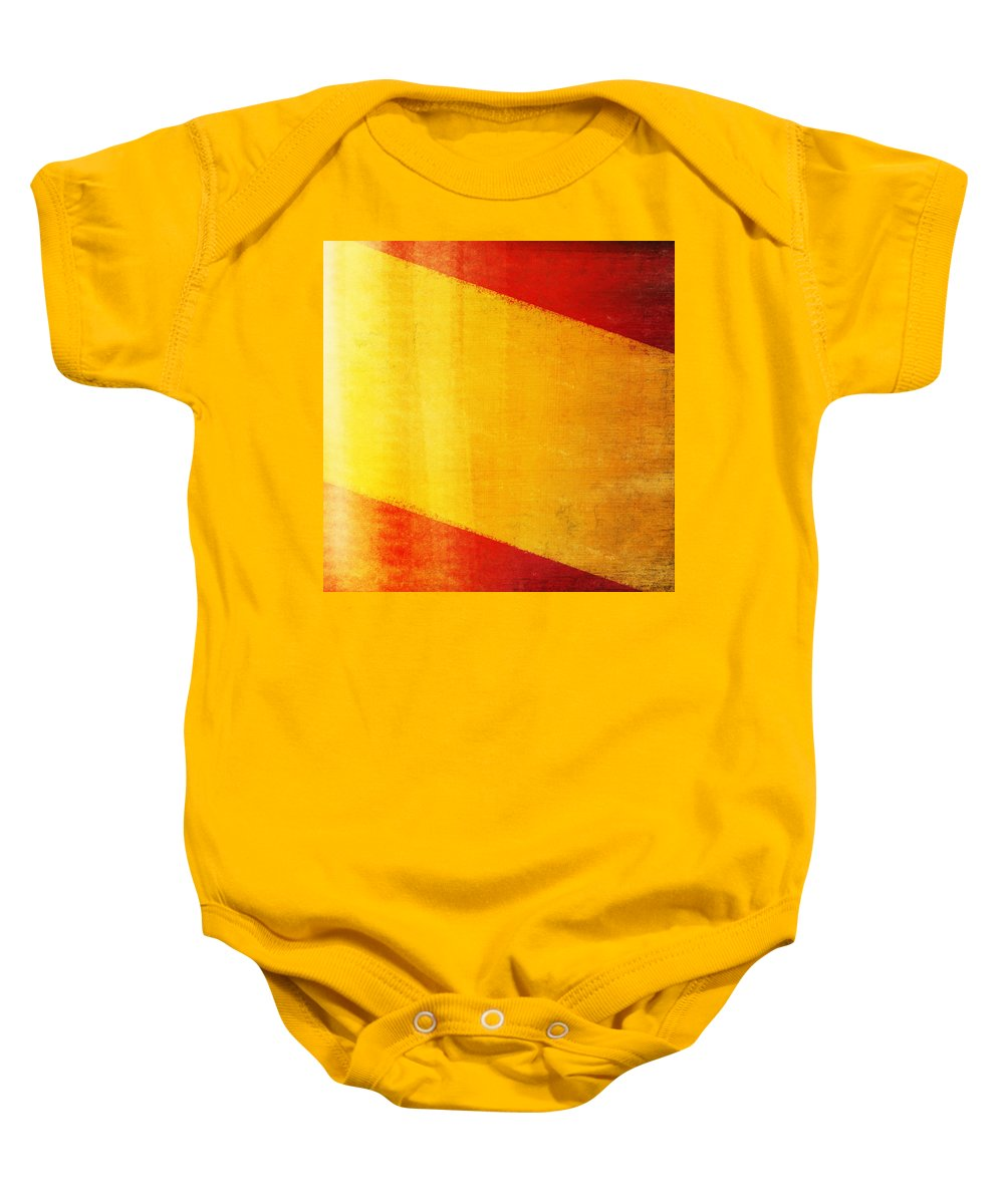 Abstract Baby Onesie featuring the photograph Spain Flag by Setsiri Silapasuwanchai