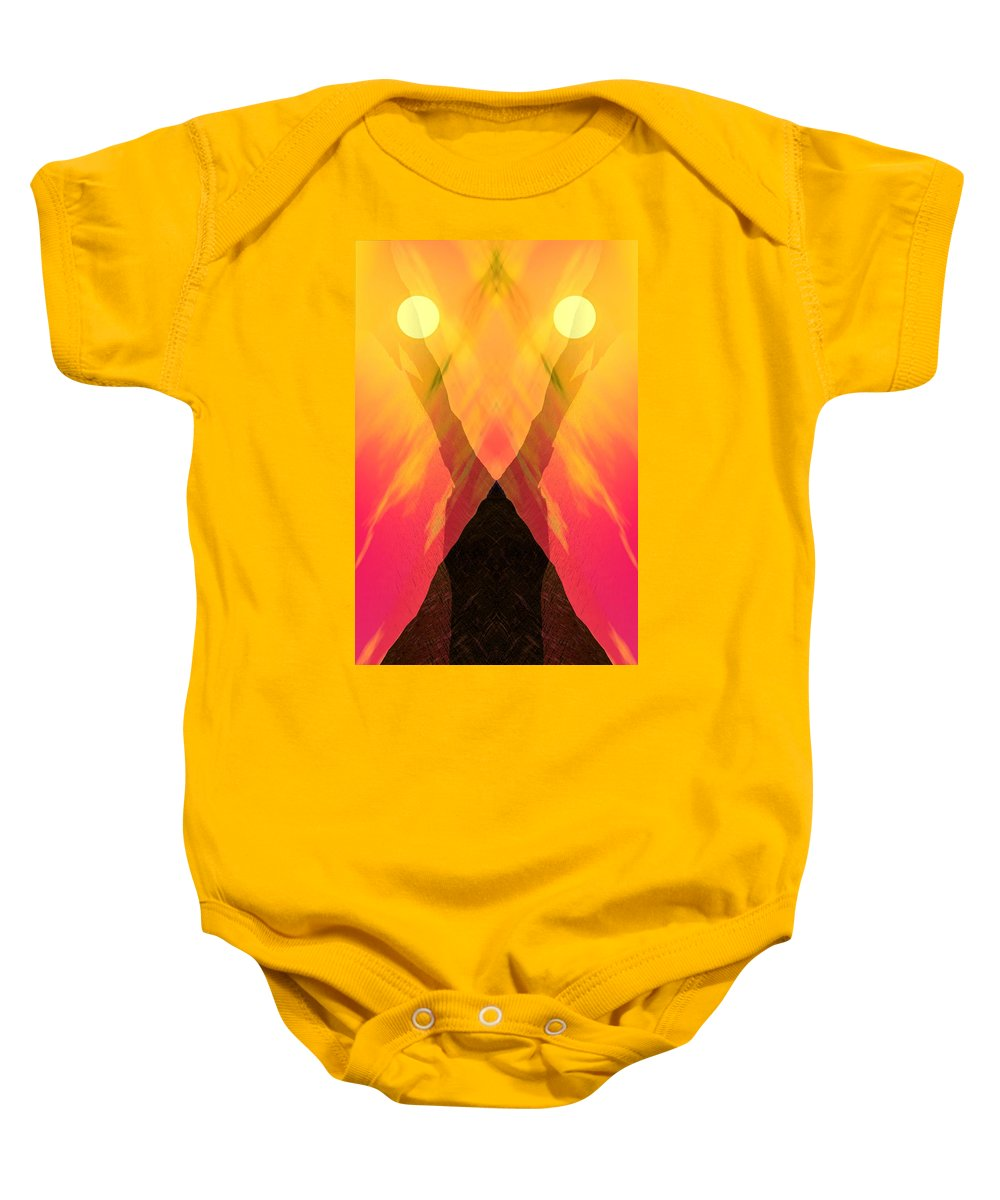 Baby Onesie featuring the digital art Spirit Of The Mountain by David Lane