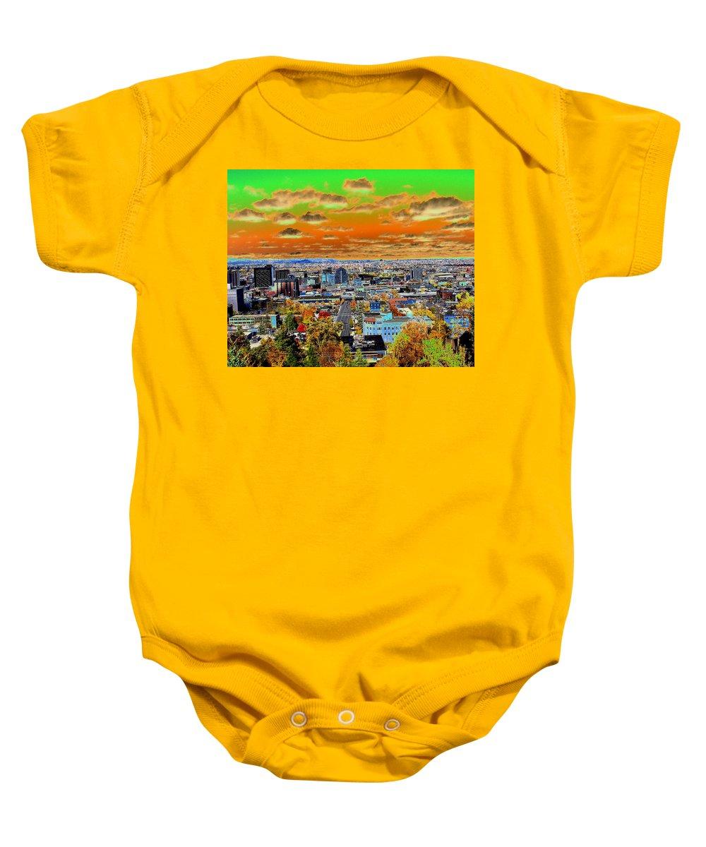Photo Art Baby Onesie featuring the photograph Spokane Washington Earth by Ben Upham III
