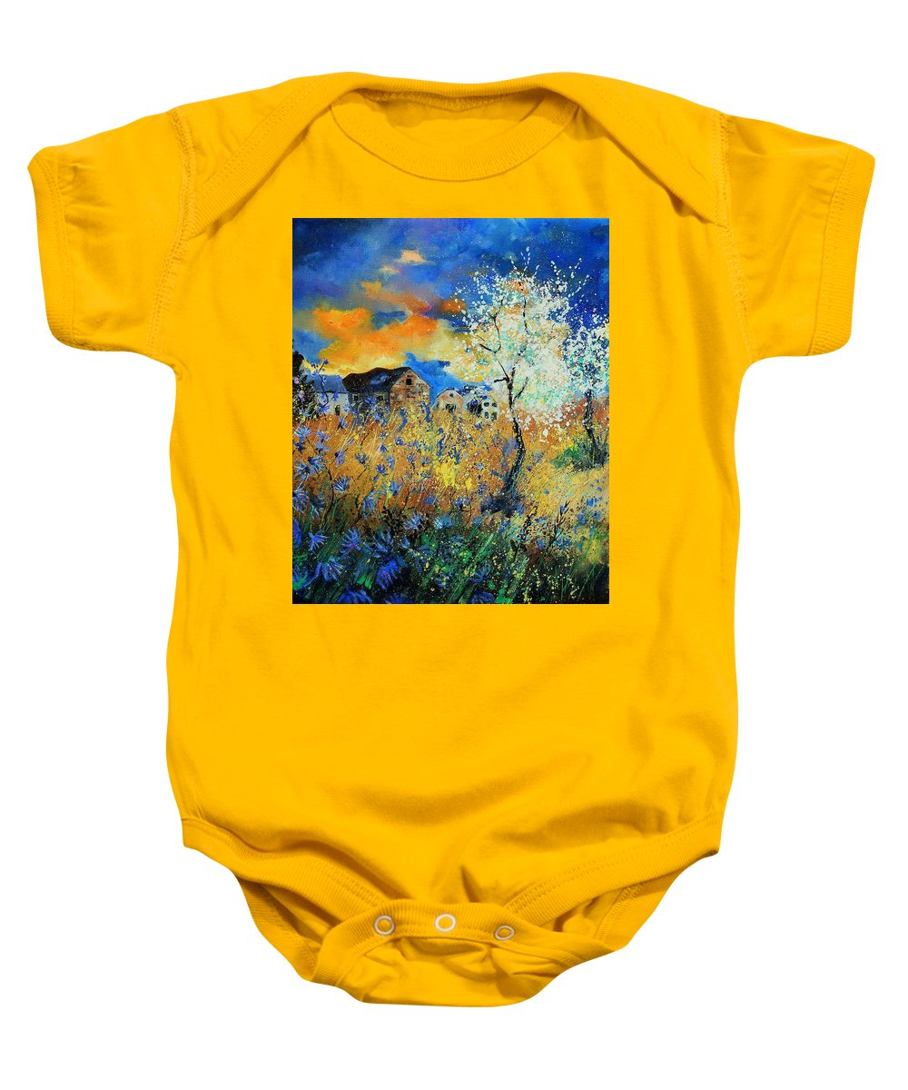 Flowers Baby Onesie featuring the painting Spring 67 by Pol Ledent
