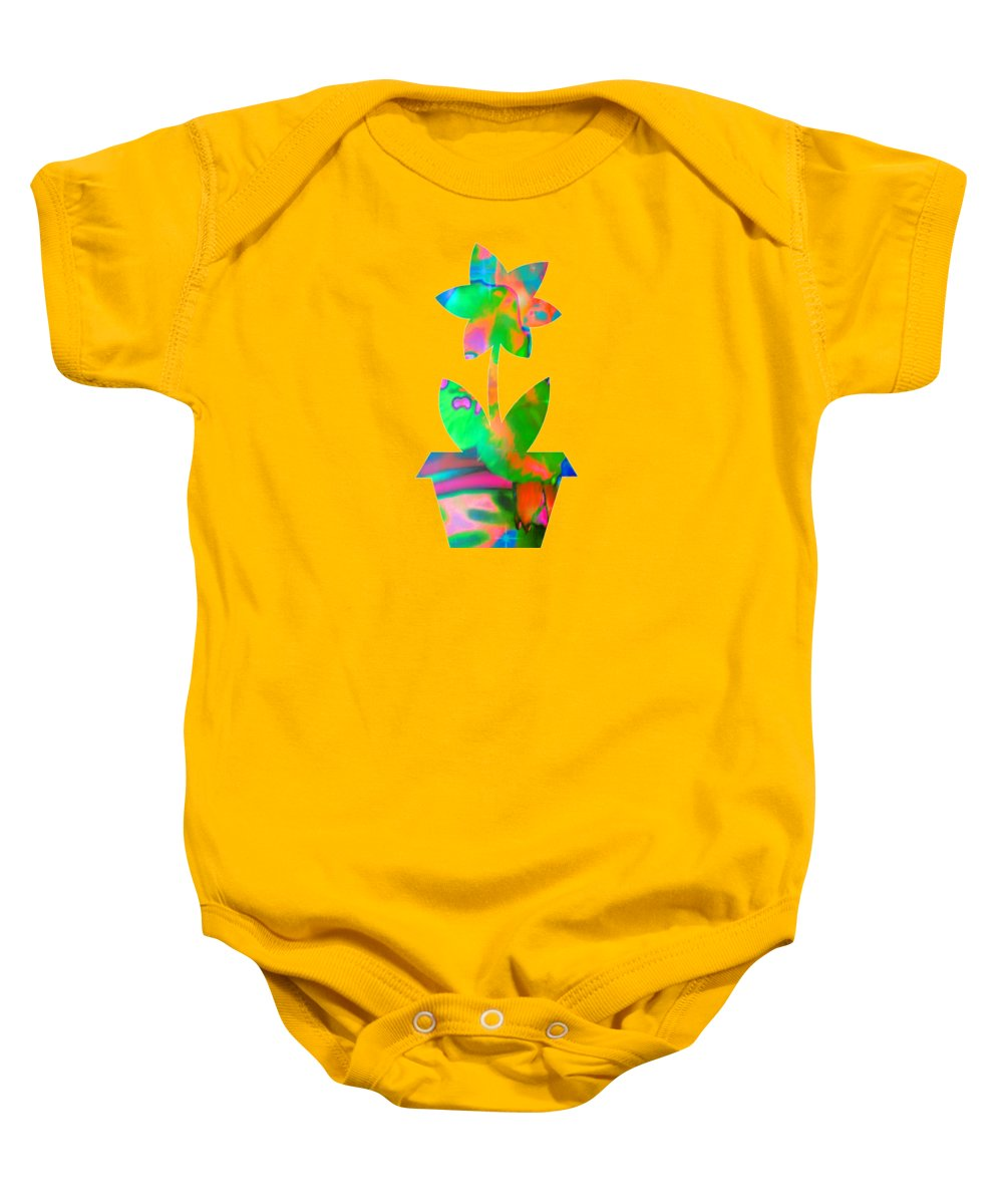 Flower Baby Onesie featuring the digital art Spring Fever by Rachel Hannah