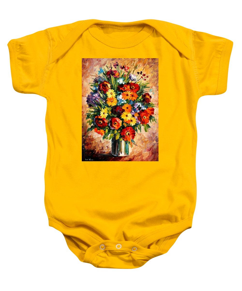 Afremov Baby Onesie featuring the painting Spring Passion by Leonid Afremov