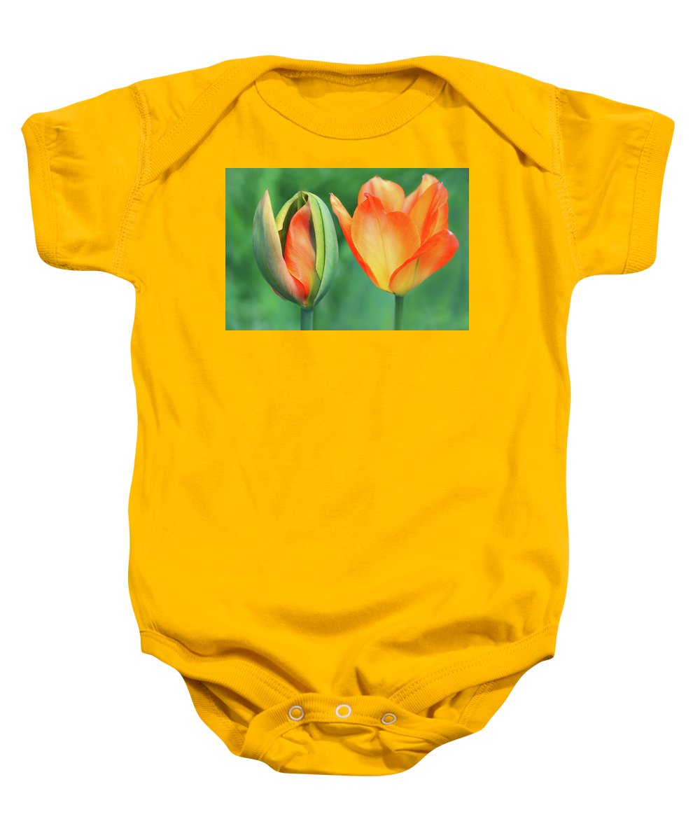 Spring Baby Onesie featuring the photograph Spring Siblings by Iryna Goodall