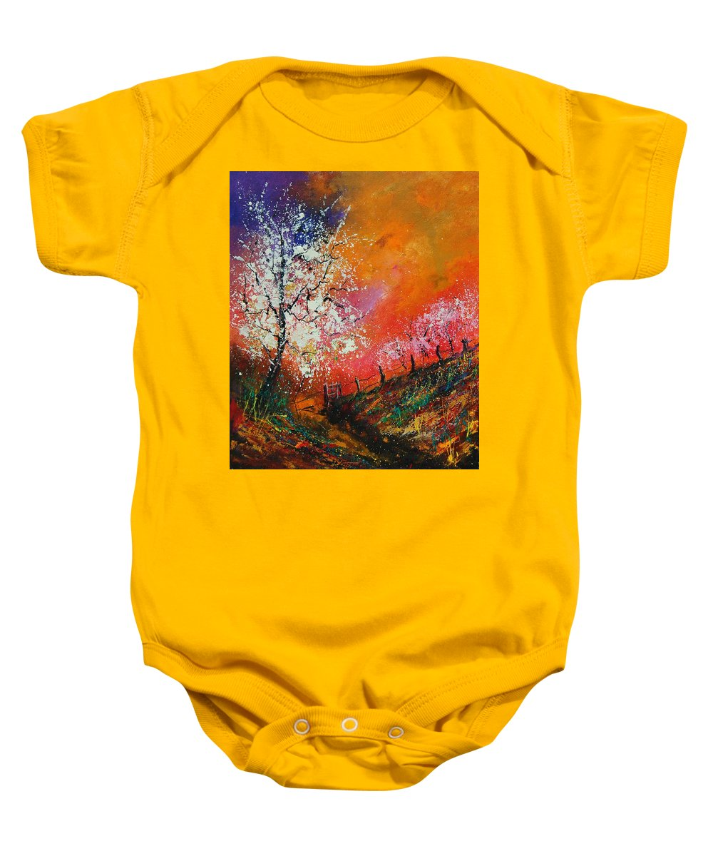 Spring Baby Onesie featuring the painting Spring Today by Pol Ledent