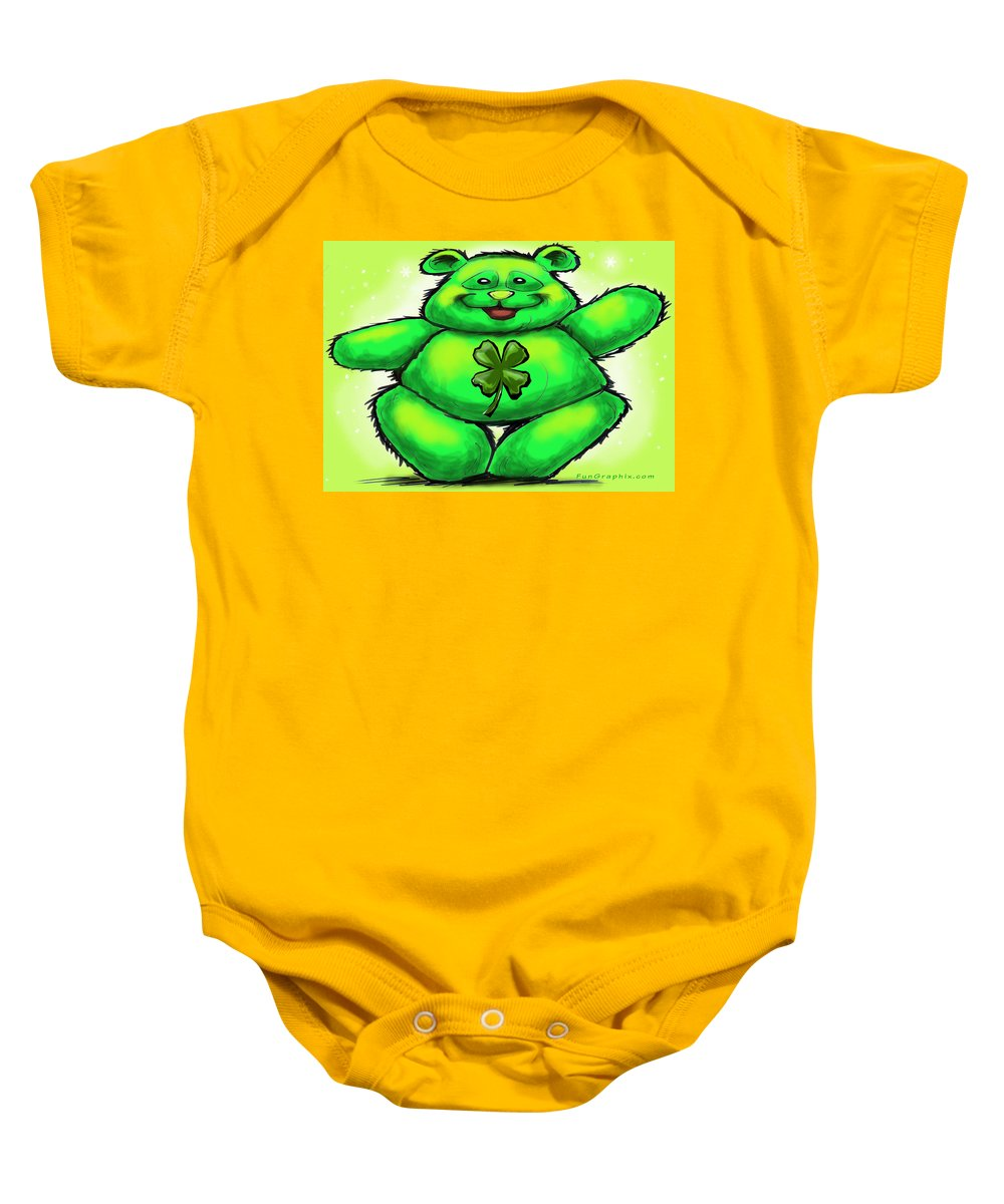 St. Patrick Baby Onesie featuring the painting St. Patrick by Kevin Middleton