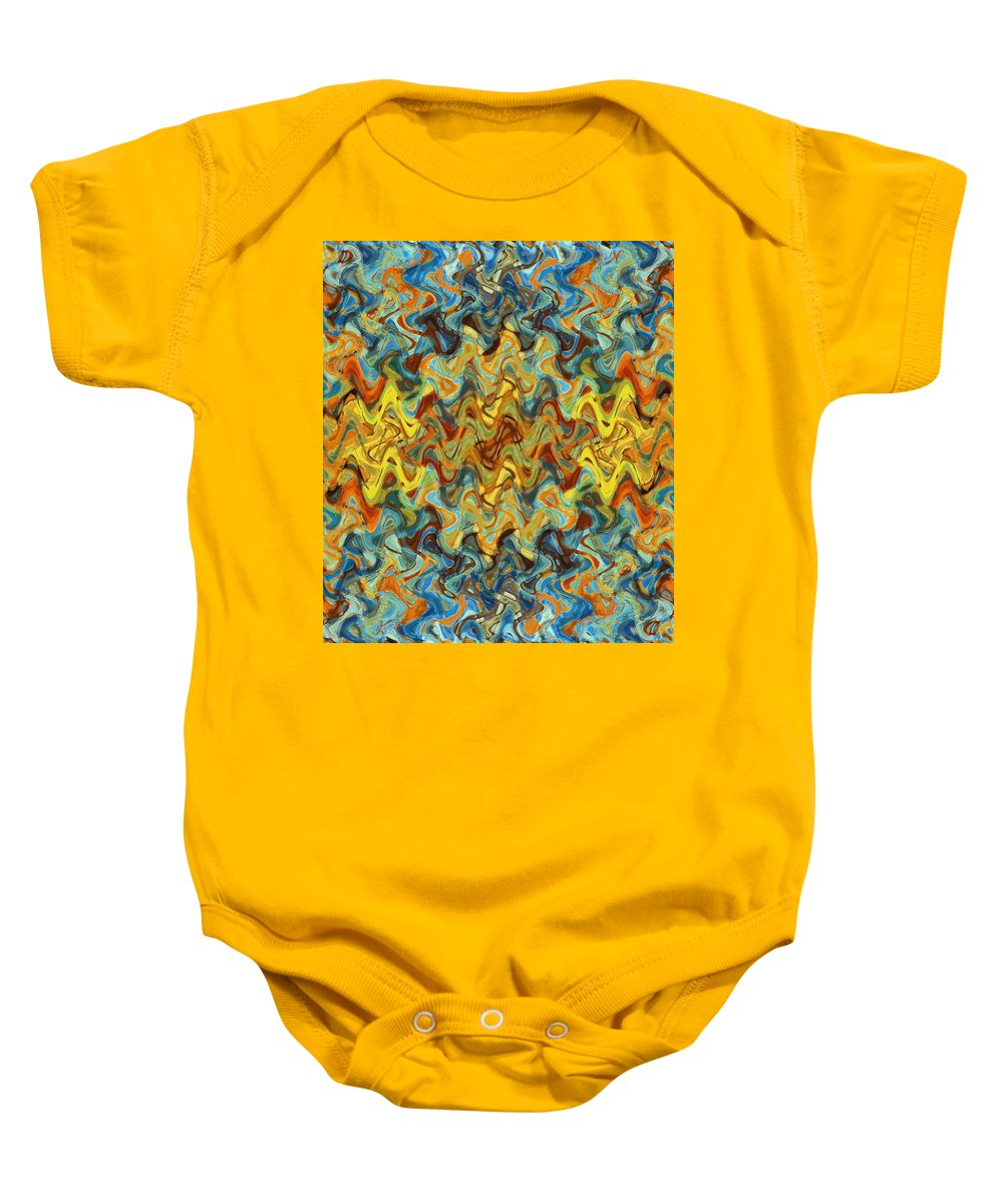 State Of Being Baby Onesie featuring the painting State Of Being by Dan Sproul