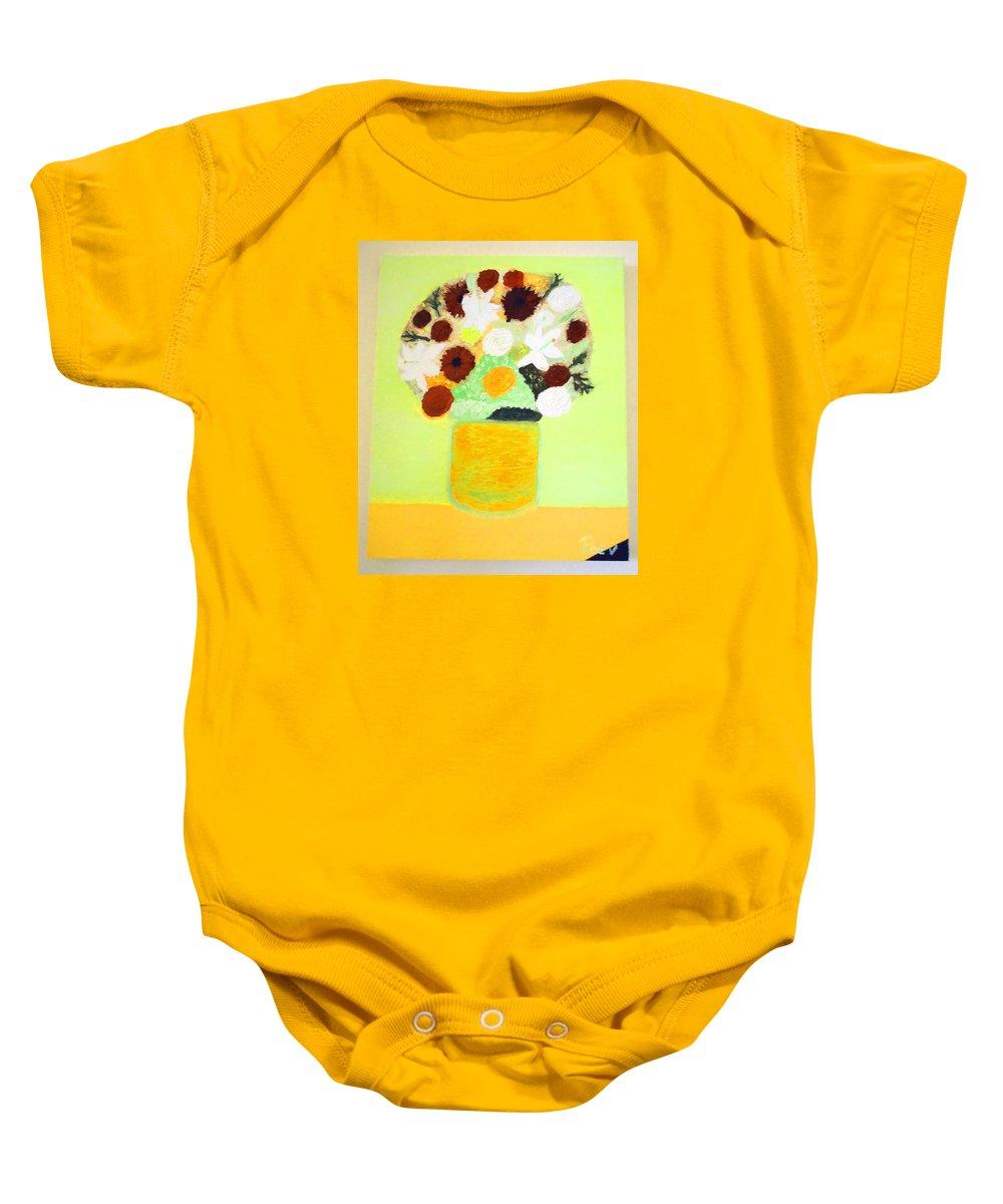 Flowers Baby Onesie featuring the painting Still Life by Krum Peev