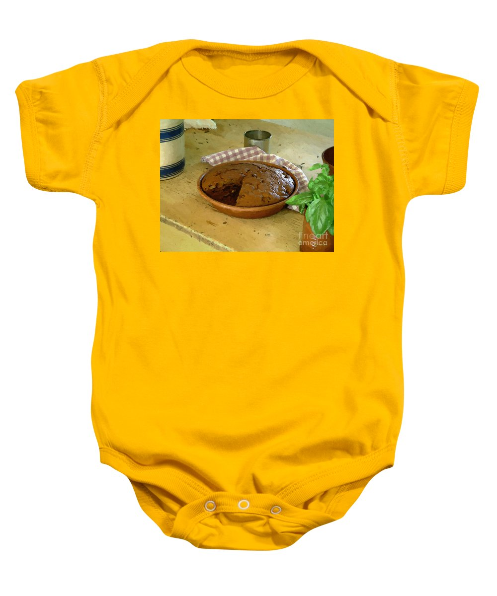 Gingerbread Baby Onesie featuring the painting Still Life With Gingerbread by RC DeWinter